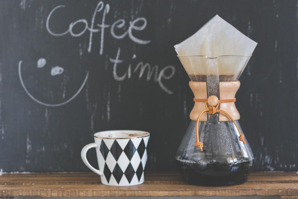 Hora da pausa para o café