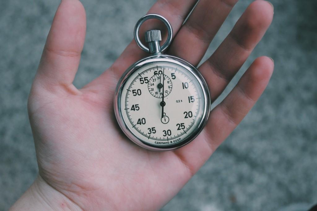 Estabeleça seus horários
