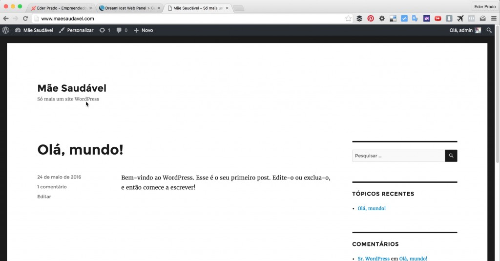 Tema Padrão WordPress