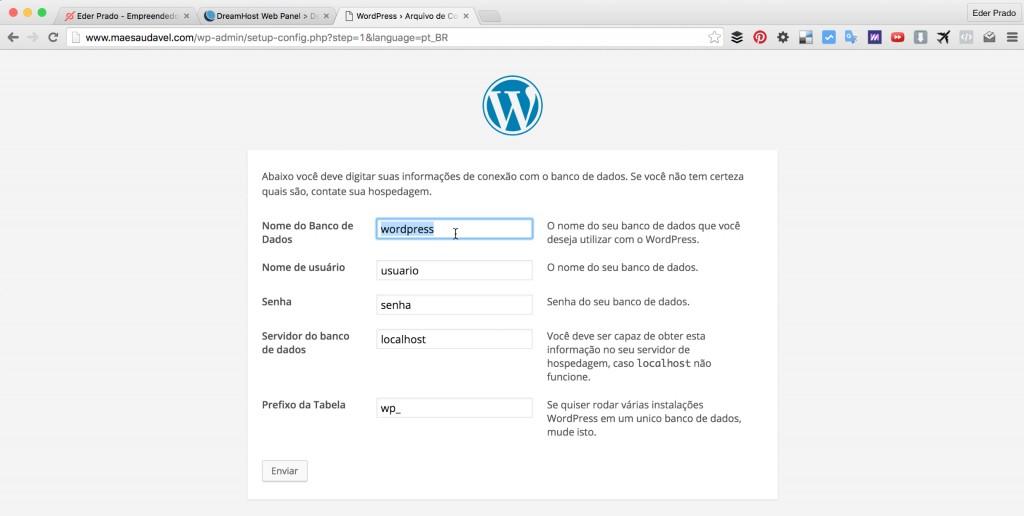 Parte 1: Como Instalar o WordPress